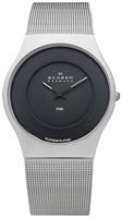 Buy Mens Skagen Black Dial Mesh Bracelet Watch online