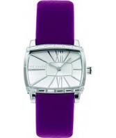 Buy Ted Baker Ladies Silver Dial With Pink Patent Leather Strap Watch online