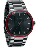 Buy Nixon The Capital Gunmetal Red Watch online