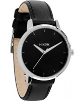 Buy Nixon Ladies The Kensington Leather Black Watch online