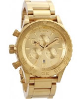 Buy Nixon The 42-20 Chrono Gold Watch online