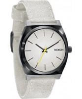 Buy Nixon The Time Teller Canvas White Watch online
