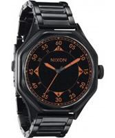 Buy Nixon The Falcon All Black Orange Steel Watch online
