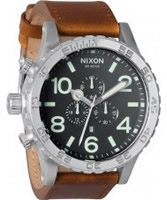 Buy Nixon The 51-30 Chrono Leather Black Brown Watch online