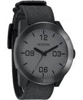 Buy Nixon Mens The Corporal Matte Black Watch online