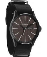 Buy Nixon Mens The Sentry Dark Wood Watch online
