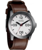 Buy Nixon Mens Private Silver Brown Watch online