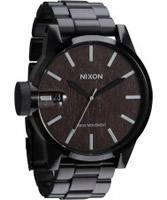 Buy Nixon Mens Chronicle SS Darkwood Black Watch online