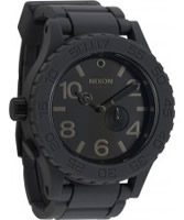 Buy Nixon Mens Rubber 51-30 Grey Black Watch online