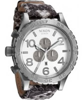 Buy Nixon The 51-30 Chrono Leather White Watch online