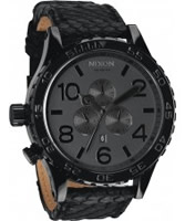 Buy Nixon The 51-30 Chrono Leather Black Watch online