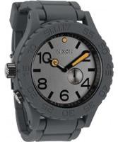 Buy Nixon Mens Rubber 51-30 Steel Gray Watch online