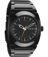 Buy Nixon Mens Don All Black and Orange Watch online