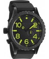 Buy Nixon Mens 51-30 PU All Black and Lum Watch online