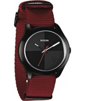 Buy Nixon The Quad Dark Red and Black Watch online