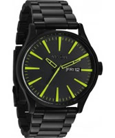 Buy Nixon Mens The Sentry SS All Black and Lum Watch online