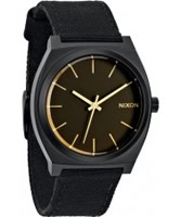 Buy Nixon Mens Time Teller Matte Black and Orange Tint Watch online