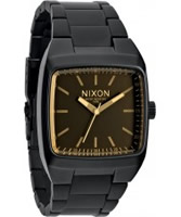 Buy Nixon Mens Manual Matte Black and Orange Tint Watch online