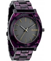 Buy Nixon Ladies Time Teller Acetate Gunmetal and Velvet Watch online