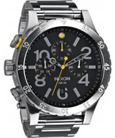 Buy Nixon Mens Black Silver 48-20 Chrono Watch online
