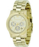 Buy Michael Kors Ladies Gold Runway Chronograph Watch online