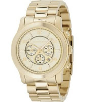 Buy Michael Kors Chronograph Gold Plated Watch online