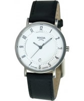 Buy Boccia Ladies Titanium Leather Strap Watch online