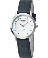 Buy Boccia Ladies Titanium White Black Watch online