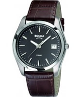 Buy Boccia Mens Titanium Grey Brown Watch online
