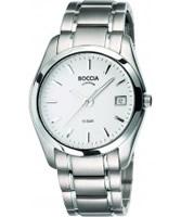 Buy Boccia Mens Titanium White Watch online