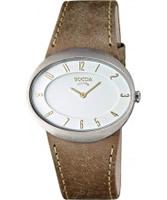 Buy Boccia Ladies Titanium Brown Leather Strap Watch online