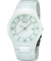 Buy Boccia Ladies White Ceramic Bracelet Watch online