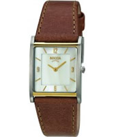 Buy Boccia Ladies Titanium Brown Leather Strap Watch online