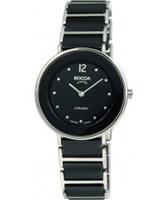 Buy Boccia Ladies Titanium Sapphire Crystal Black Watch online