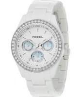 Buy Fossil Ladies Stella All White Watch online