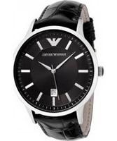 Buy Emporio Armani Mens Black Renato Watch online