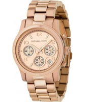 Buy Michael Kors Ladies Jet Set Chronograph Gold Dial And Bracelet Watch online