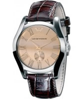 Buy Emporio Armani Mens Brown Valente Watch online