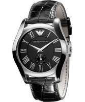 Buy Emporio Armani Mens Black Valente Watch online