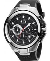 Buy Armani Exchange Mens Black Sport Ranger Active Watch online