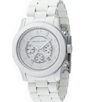 Buy Michael Kors Runway Chronograph White Steel Watch online