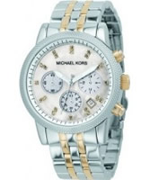 Buy Michael Kors Ladies Chronograph Two Tone Watch online