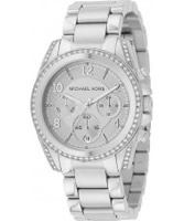 Buy Michael Kors Ladies Silver Tone Chronograph Watch online
