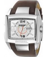 Buy Diesel Mens Bugout Silver Brown Watch online