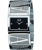 Buy Armani Exchange Ladies Black Silver Eva Street Watch online