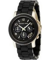 Buy Michael Kors Ladies Runway Chronograph Black Watch online