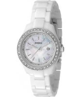 Buy Fossil Ladies Stella Crystals White Watch online
