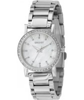 Buy DKNY Ladies Silver Crystals Watch online