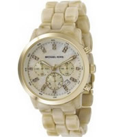 Buy Michael Kors Ladies Chronograph Crystals Champagne Watch online
