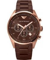 Buy Emporio Armani Mens All Brown Tazio Sportivo Watch online